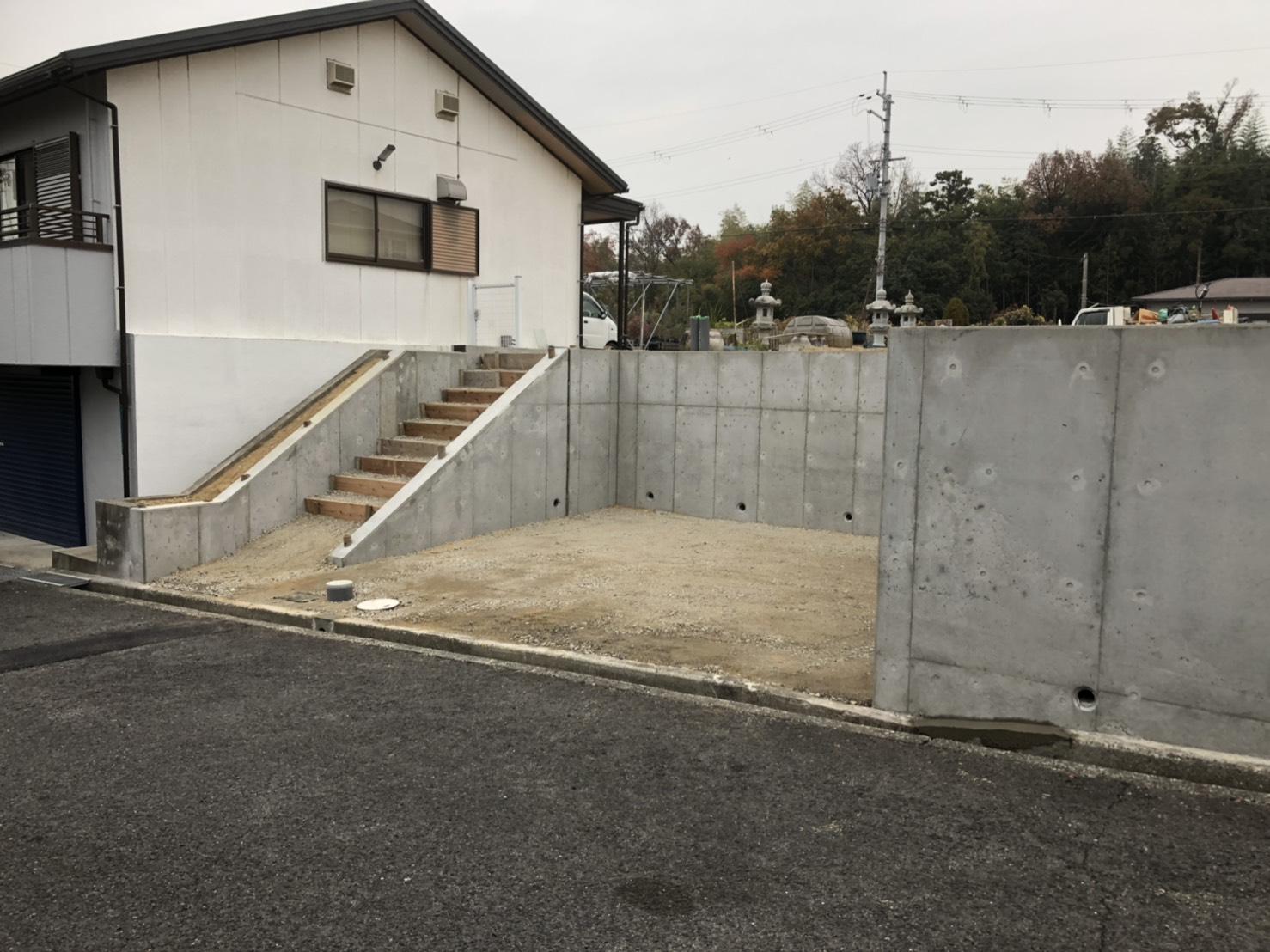 堺市宅地整備工事。現場竣工