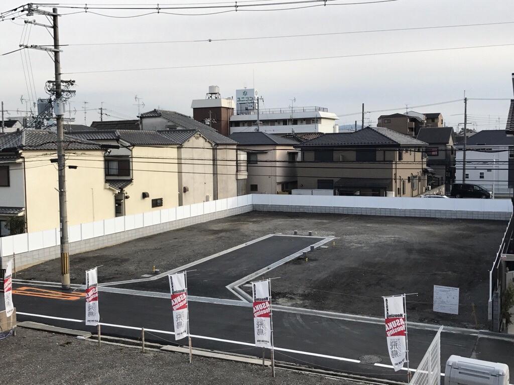 枚方市北船橋町宅地造成工事(2月下旬竣工)